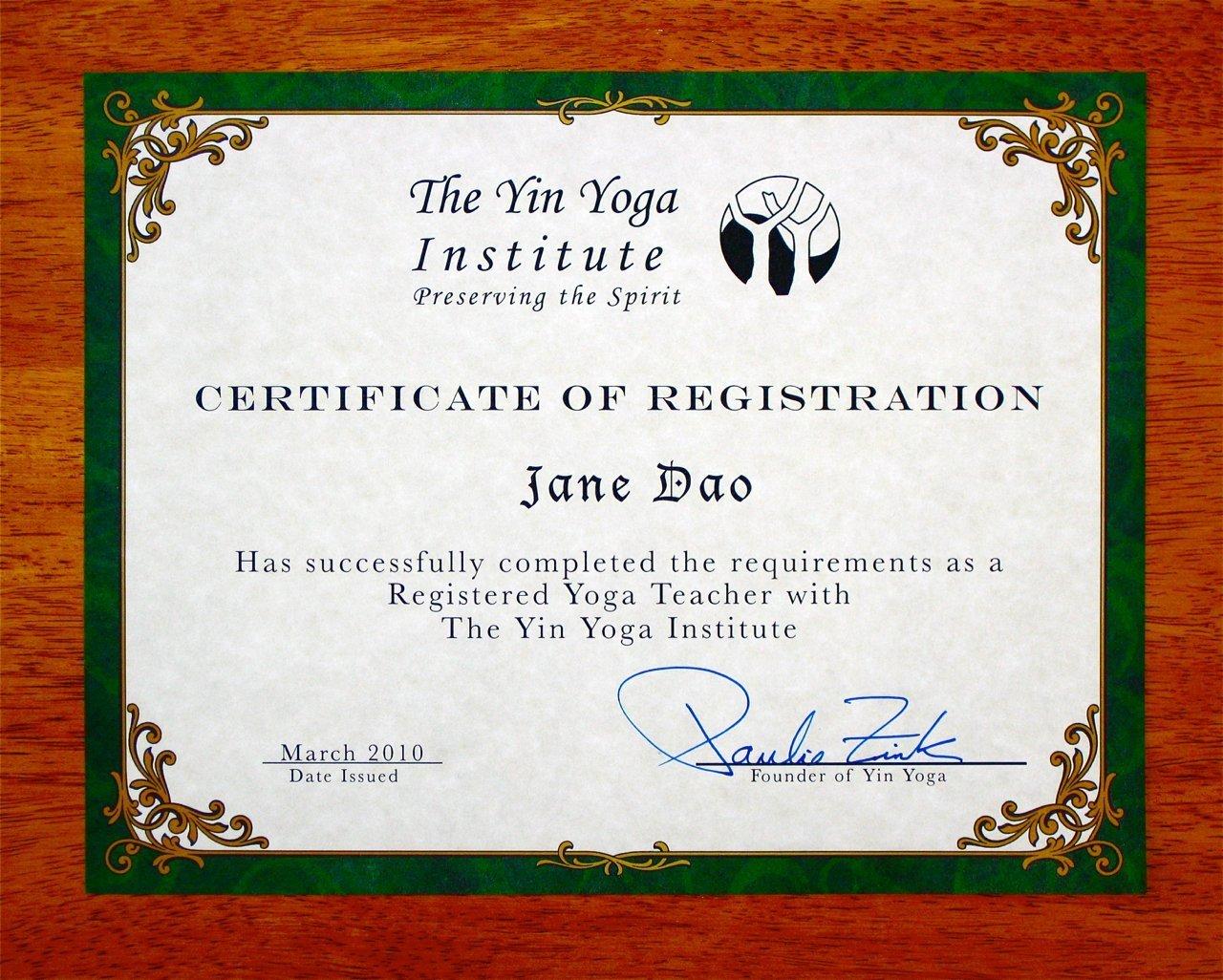 Yin Yoga Teacher Training Yin Yoga Founder Paulie Zink